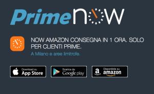 amazon prime now in Italia