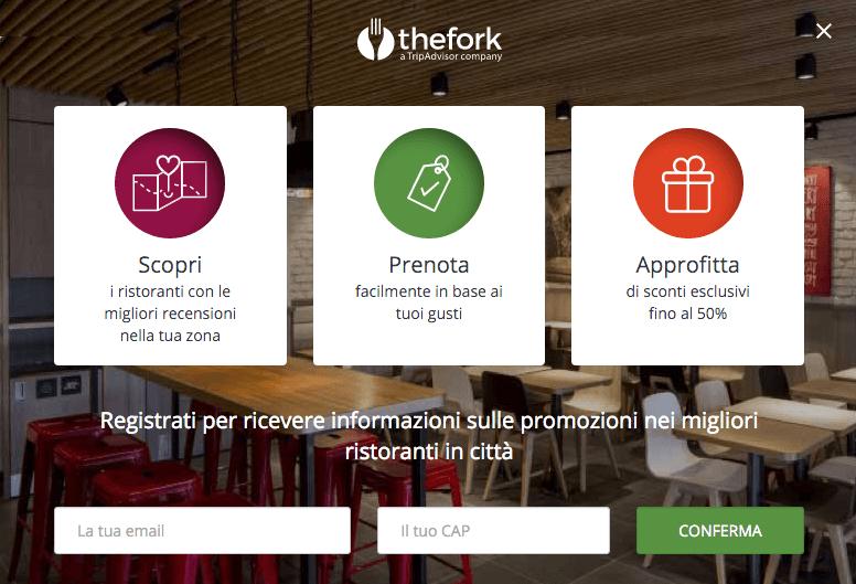 app fork per ristoranti